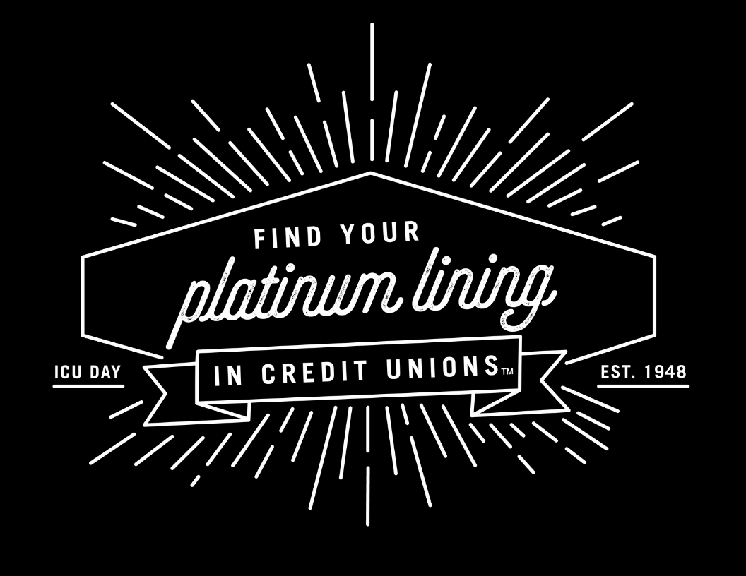 find your platinum lining in credit unions. ICU day logo