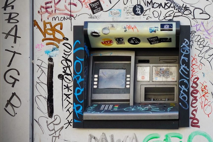 ATM graffiti machine