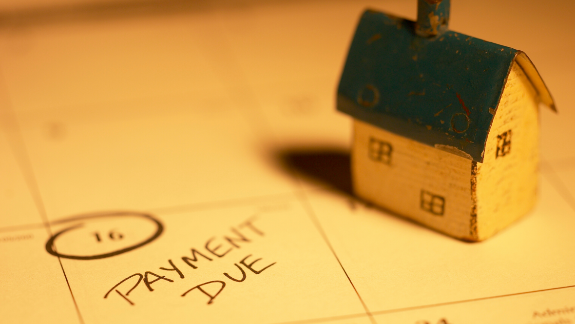 calendar with house payment due date circled
