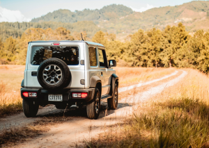 white jeep on california trail