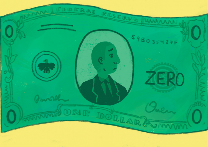zero dollar illustration