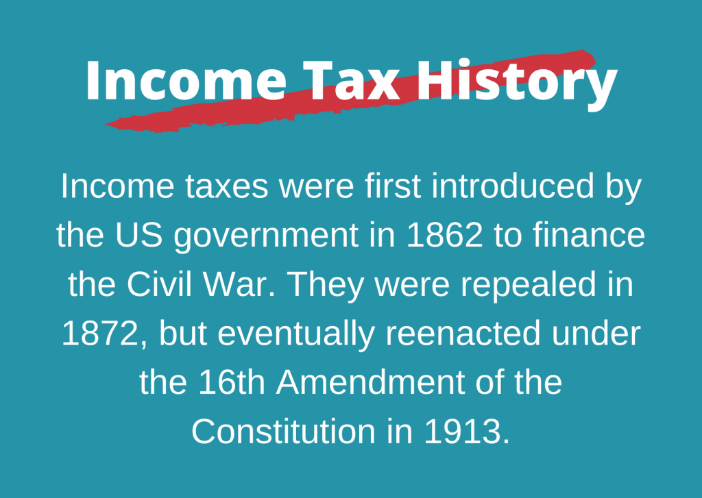 income tax history placard