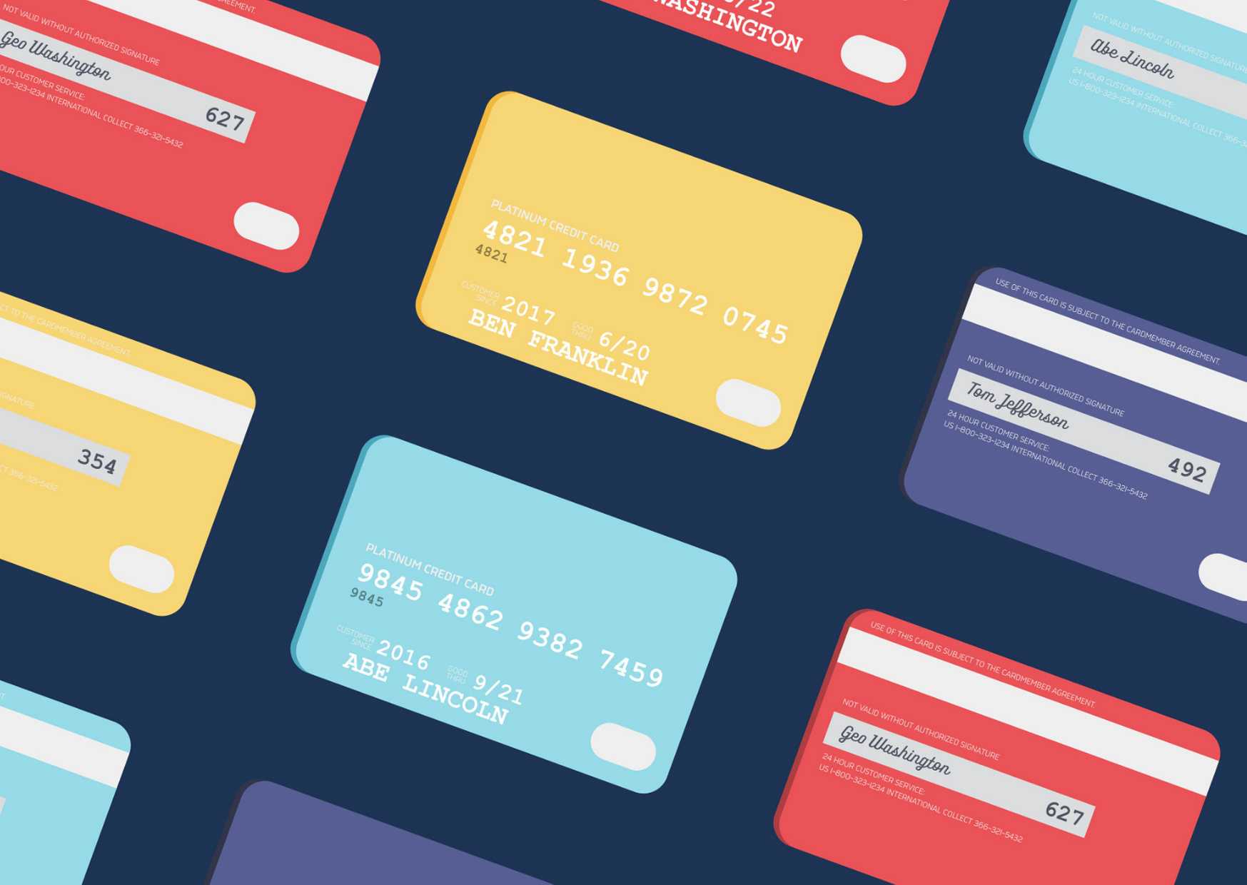 illustration credit cards