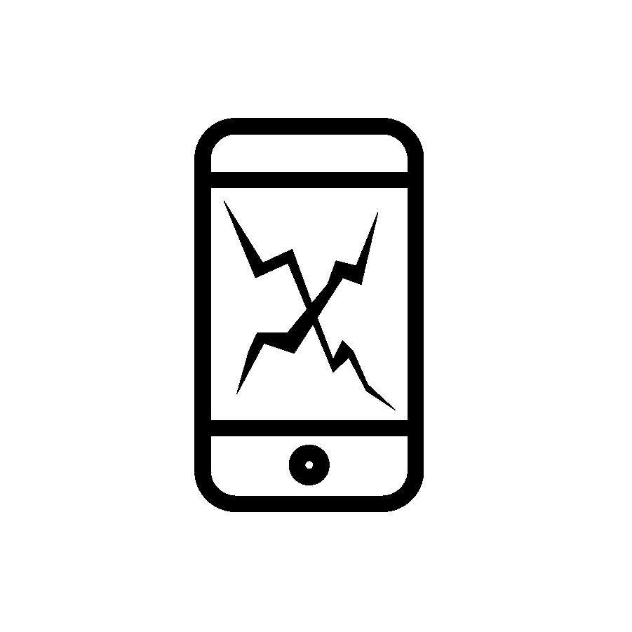 broken cellphone icon