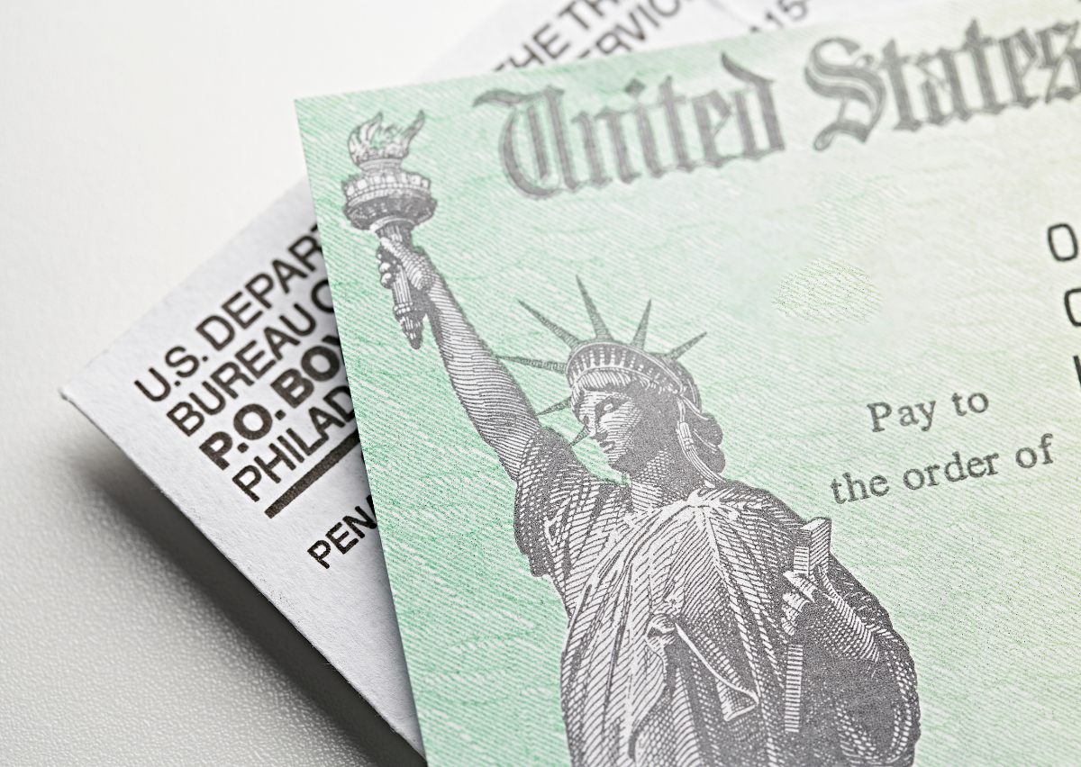 stimulus check: pay to the order of