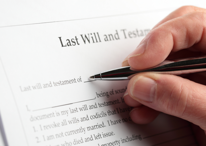last will and testament header