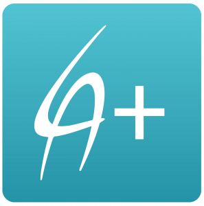 LA Financial Perks App - blue icon with white LA and + logo