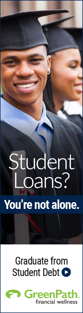 student loans? you're not alone. graduate from student debt with greenpath.