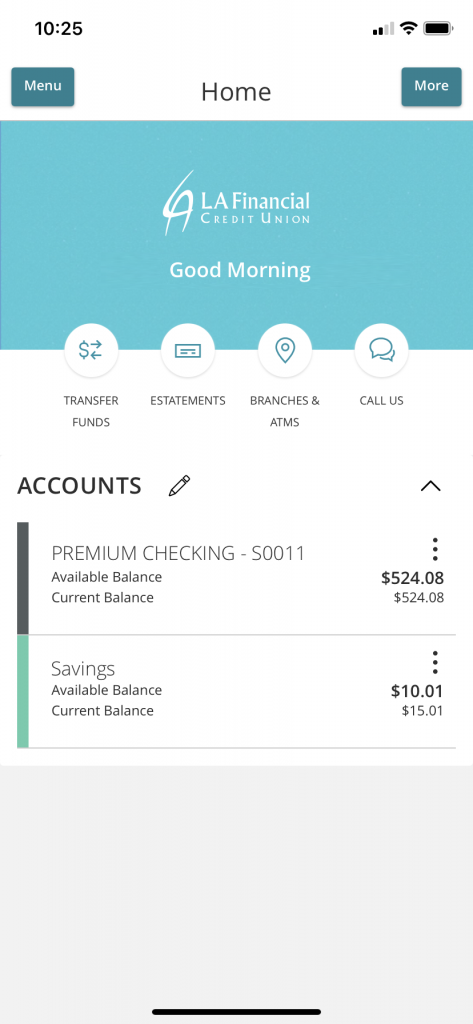 mobile quick links - mobile banking home screen new look