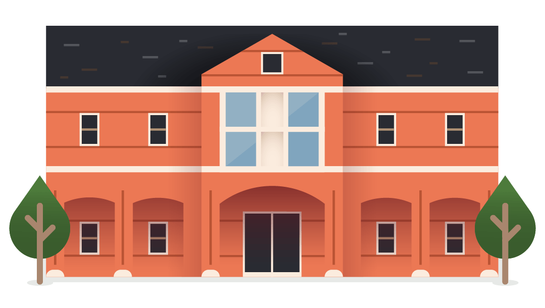 illustration - college building