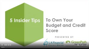 5 Insider Tips To Own Your budget and Credit Score - cover image link to video
